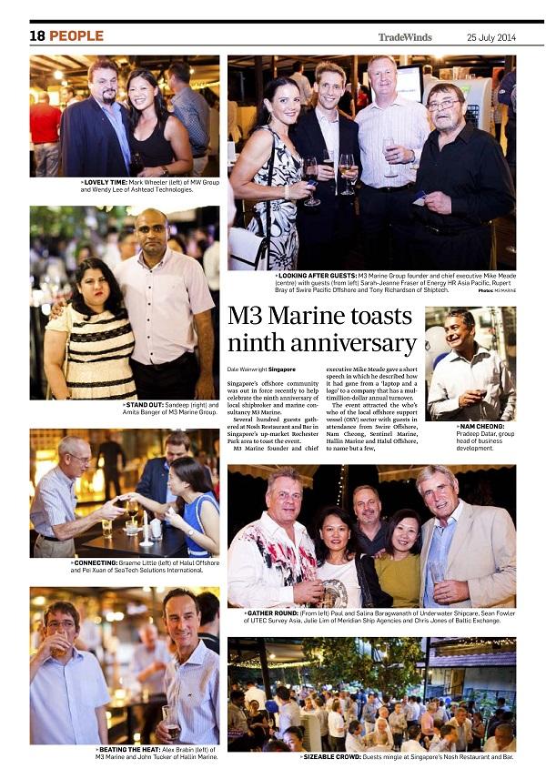 Press Release: M3 Marine toasts ninth anniversary